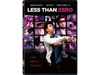 Less Than Zero Andrew McCarthy, Jami Gertz, Robert Downey Jr., James Spader, Michael Bowen, Nicholas Pryor, Tony Bill