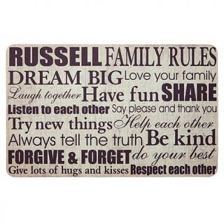 Personal Creations Personalized Family Rules Doormat   7447588
