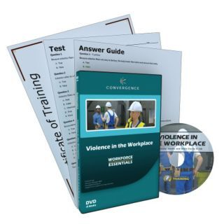 CONVERGENCE TRAINING Violence in the Workplace,DVD,English   21DP27|448   Grainger