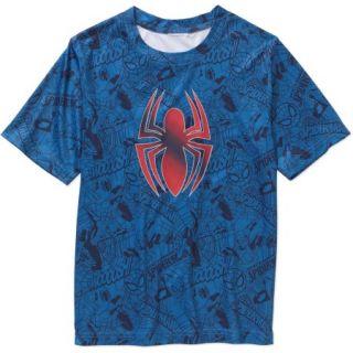 Marvel Spiderman Boys Poly Graphic Tee