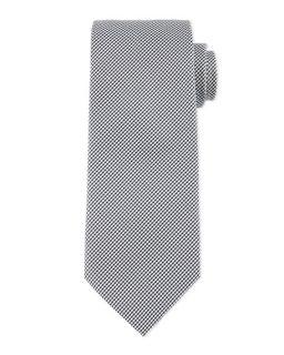 Boss Hugo Boss Neat Micro Gingham Silk Tie, Black