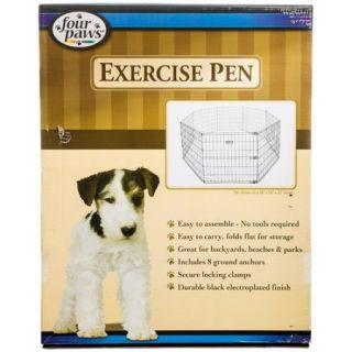 Four Paws Exercise Pen   Black